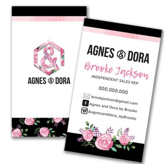 agnes and dora business, Agnes and dora business card