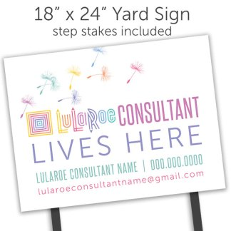 lularoe yard sign for lularoe popup boutique