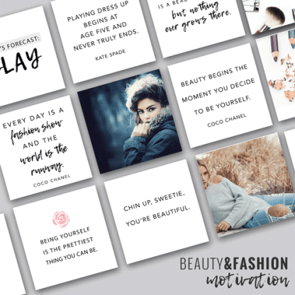 social media beauty and fashion quotes