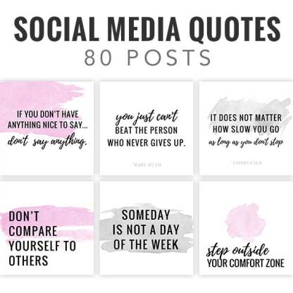 social media quote pack, entrepreneur quote pack, blogger quotes, quotes posts for instagram and facebook, insta quote posts