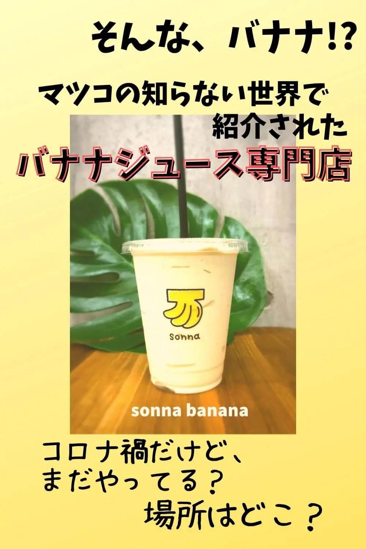 野田枝里sonna banana ソンナバナナ