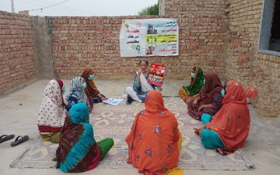 COVID-19 vaccination awareness campaign for women farm workers in Pakistan