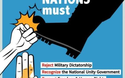 trade unions call on UN to reject Myanmar's military government in lead-up to the International Day of Democracy 2021