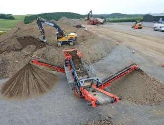 Hrubotřídič uhlí od firmy Terex Finlay