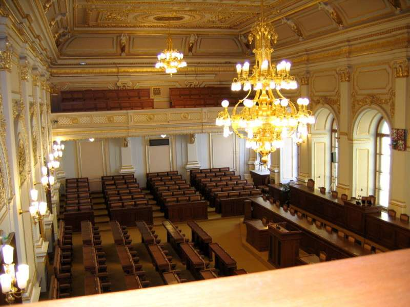 Zasedací sál Poslanecké sněmovny. Foto: Wikipedia