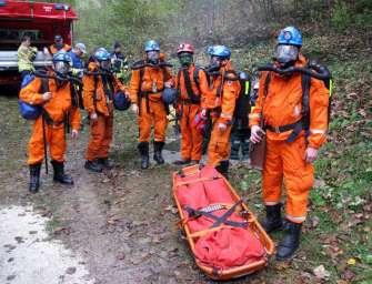 Záchranáři cvičili v solném dole v Rakousku