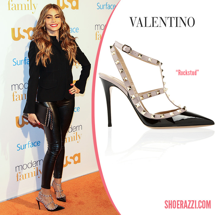 Valentino-Rockstud-slingback-pumps-Sofia-Vergara