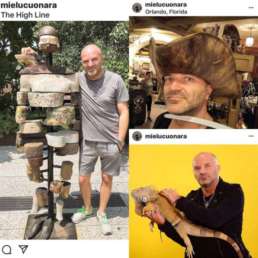 Dan Capatos s-a pozat cu iguana în mână