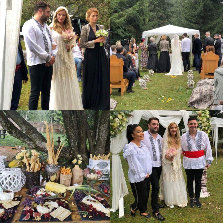 Diana Dumitrescu s-a măritat într-o rochie cu motive tradiționale