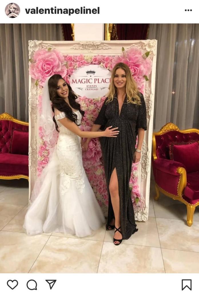 Valentina Pelinel a fost recent la o nuntă