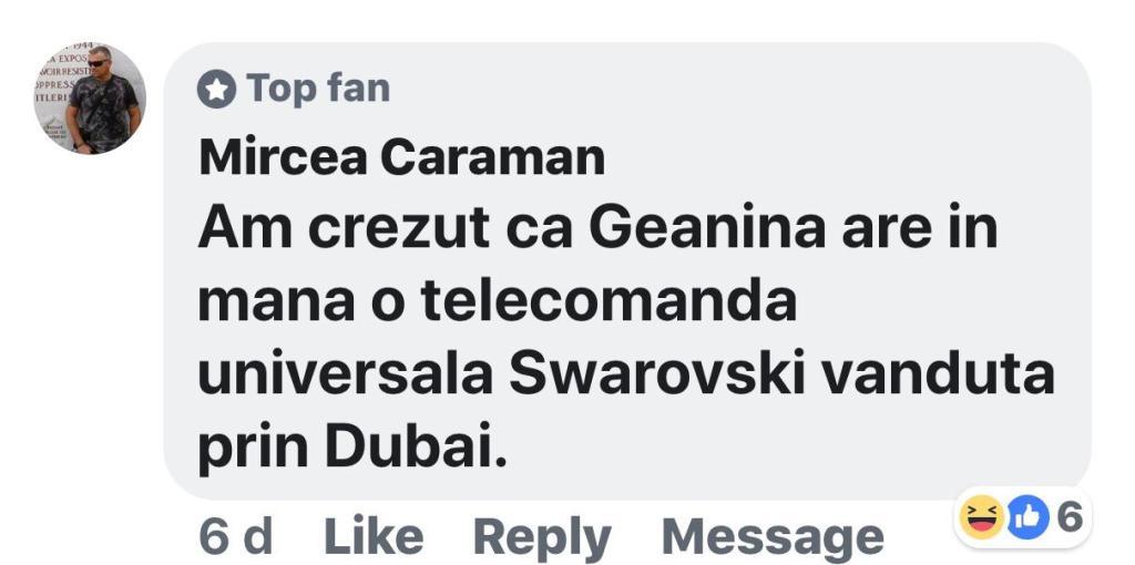 Fan comentariu pe Facebook
