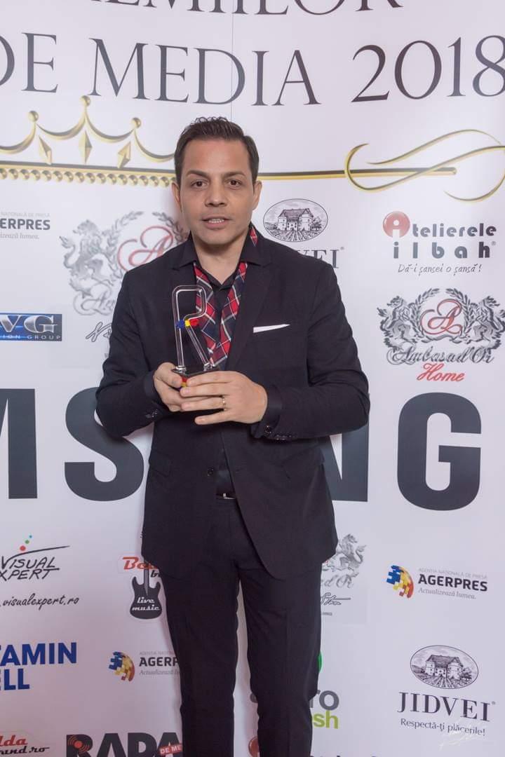 Jean de la Craiova, premiat la Gala Premiilor Radar de Media 2018