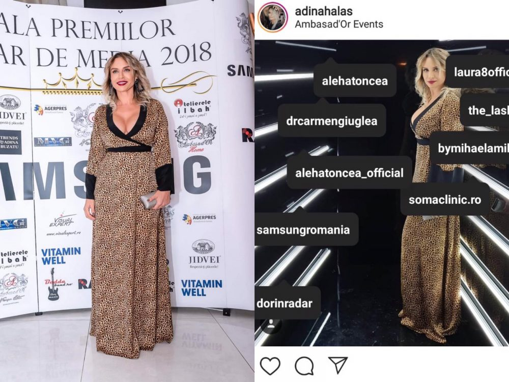 Adina Halas a fost prezentă la Gala Premiilor Radar de Media
