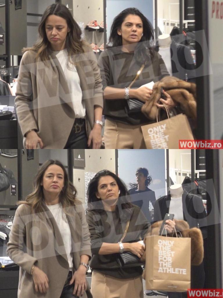 Andreea Raicu și Malvina Cservenschi la mall