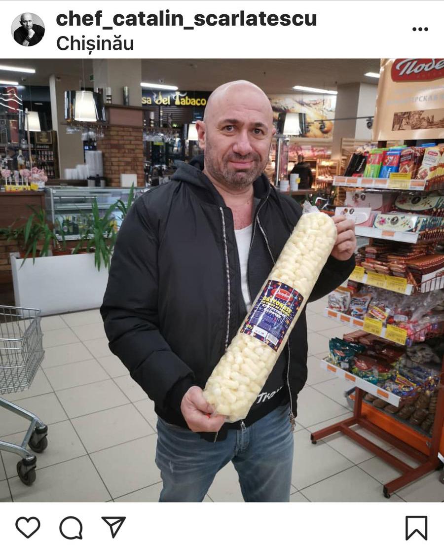 chef scarlatescu cu pufuleti la Chisinau