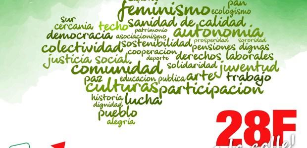 El 28 F no hay nada que celebrar, pero sí mucho por lo que luchar. En nuestras manos está ganar para Andalucía un papel protagonista, por eso estaremos en la calle mostrando la alegría de un pueblo unido, orgulloso de su historia y dueño de su futuro.