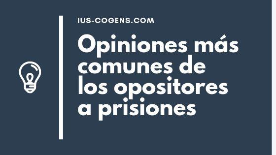 Cinco Opiniones sobre las oposiciones a prisiones