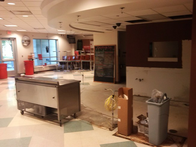 Courtside cafe in the midst of renovations. Preface photo/NICK WORT