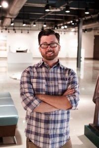 Josh Miller, the director of IU South Bend's new campus art gallery. Preface Photo/NATALIE MILLS