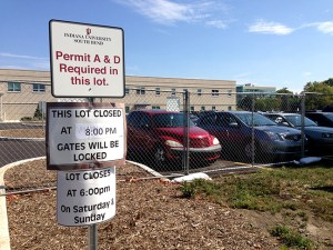 The Education and Arts Building parking lot is now open without restrictions. Preface Photo/NATALIE MILLS