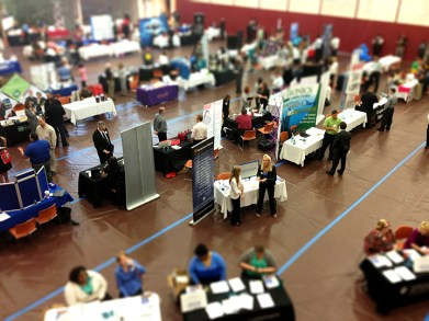 The fall Career and Internship Fair drew in more than 65 employers Preface Photos/NATALIE MILLS