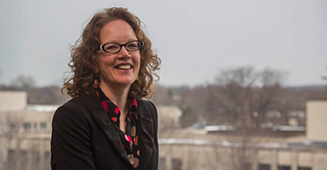 Rebecca Brittenham, award recipient, has been with the IU South Bend English Department since 1999. Photo via/Communications Office, IU South Bend