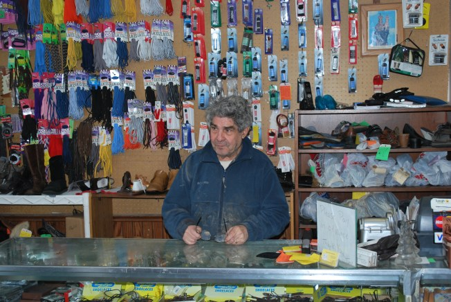Tony Sergio  working in his shop. Preface photo/NICK WORT