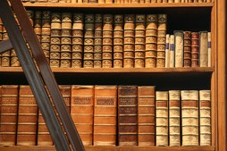 Library books, Vienna, Austria. With the advent of digital platforms, books like these may soon become relics of the past. (Photo credit: Wikimedia Commons)