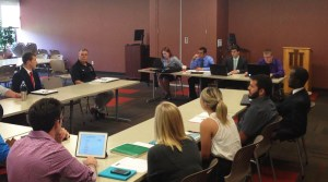 Student Government Association meeting with Chancellor Allison in attendance last semester. Provided/ Jeremy Eiler