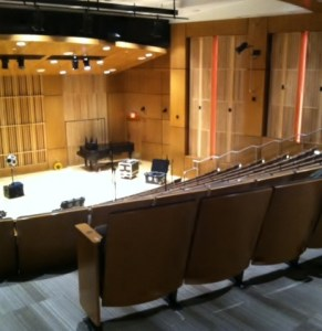 The new performance hall in Northside Hall is nearing completion. (Photo/Tricia McCann)