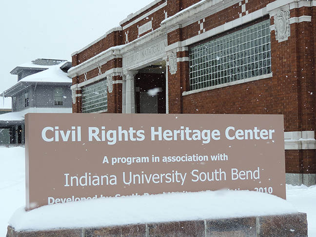 The IUSB Civil Rights Heritage Center marks the first stop of the African American  Landmark Tour.  Preface photo/ NEIL KING