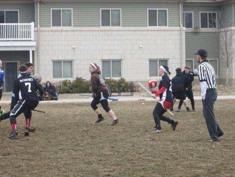 IUSB's Quidditch team at a past practice.  (Photo courtesy of Sarah Knowlton)