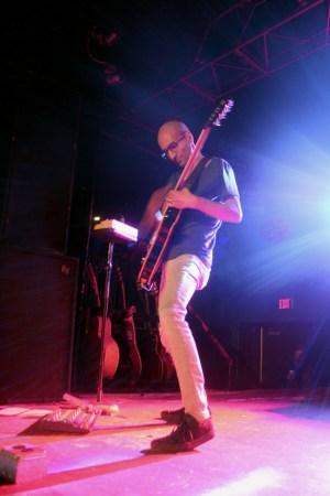 Guitarist Sameer Bhattacharya of Flyleaf onstage at Club Fever.  Preface photo/Cecelia Roeder