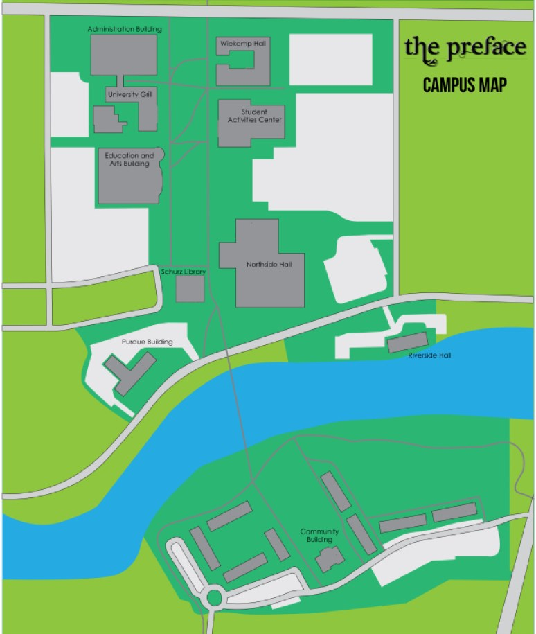 Map of campus_without names