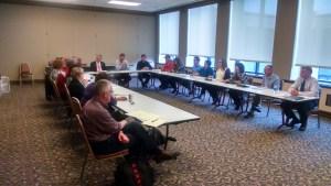 Student veterans book club meeting