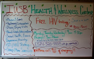 The IUSB Wellness Center offers a list of services to students and employees. PHOTO/Kendall Asbell