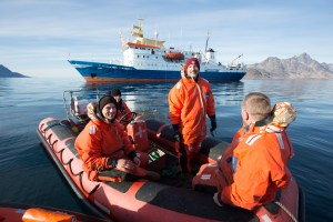 Professor Peter Bushnell and his tagging crew in Greenland. PHOTO/HENRICK SCHURMANN
