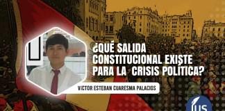 ¿Qué salida constitucional existe para la crisis política?