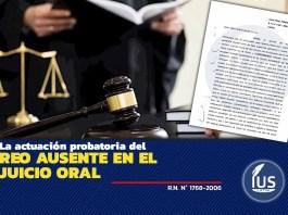 La actuación probatoria del reo ausente en el juicio oral