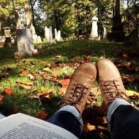 """""""Studying in the Grave Yard""""- Submitted by Michelle Funk"""