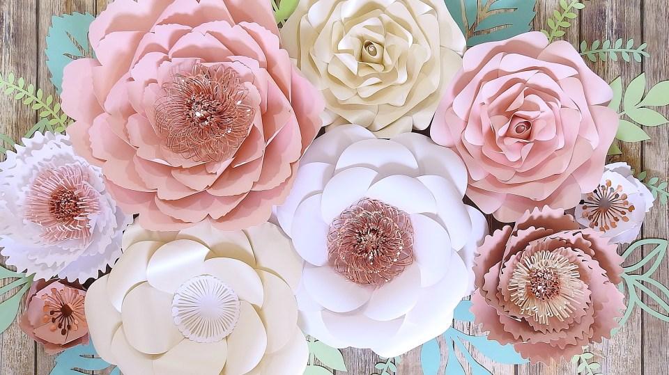 Rose Gold Paper Flower Arrangement