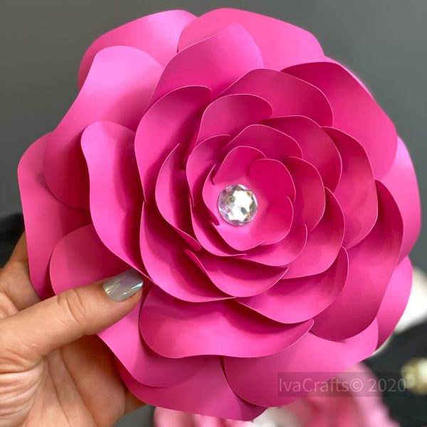 layered paper rose