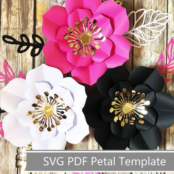 paper flower template aura