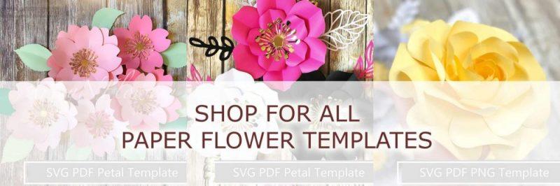 best paper flower templates