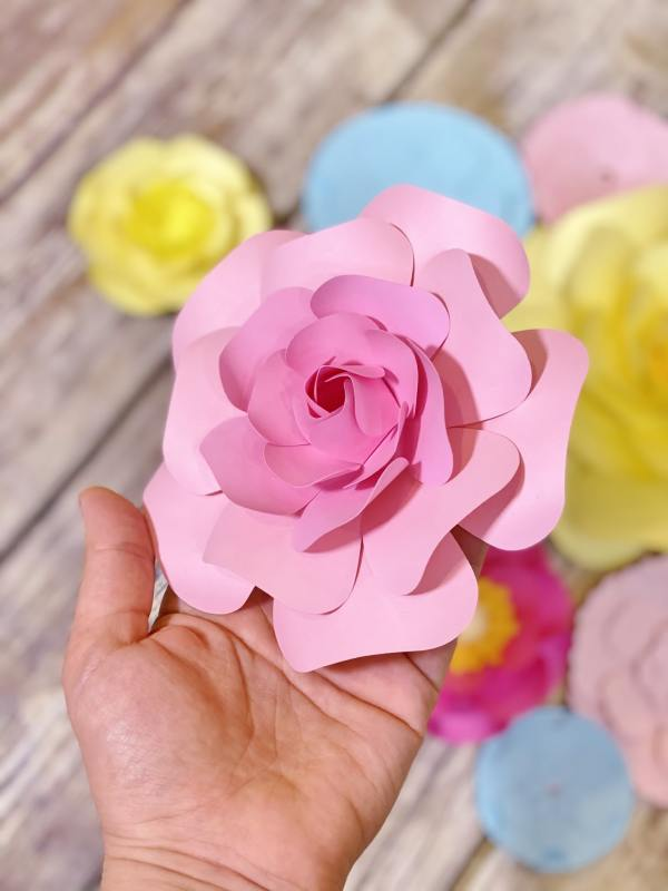 Paper flower template bundle