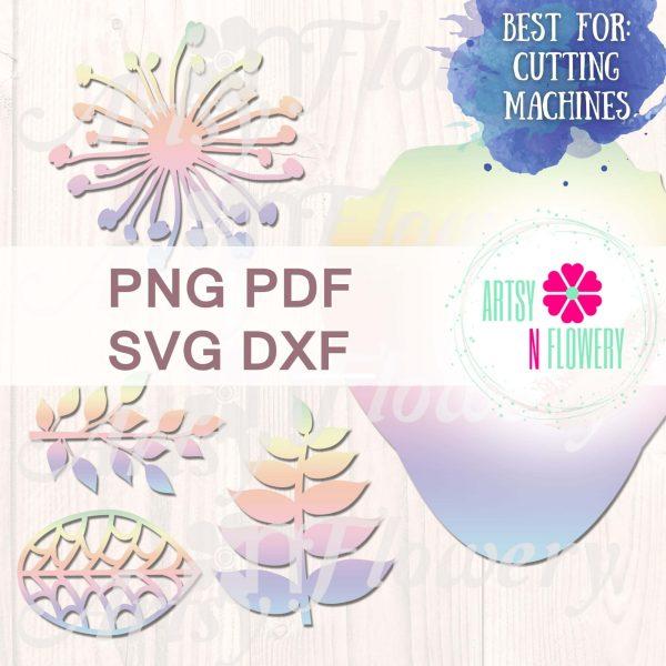 paper flower template kit