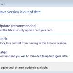 Java Update Needed