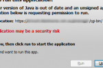 Security Warning - Unsigned Application