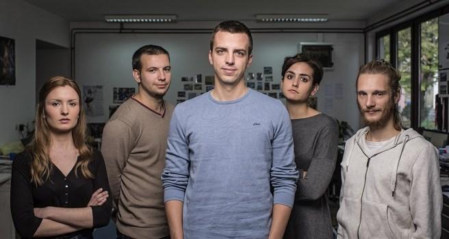 Marko Matijevčić and his Srednja.hr team, Photo: Vjekoslav Skledar