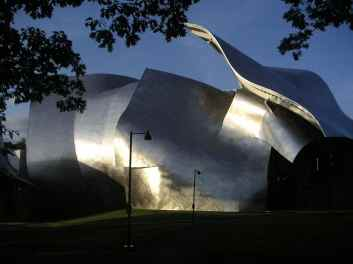 Centro de artes visuales Richard B. Fisher en New York. Frank Gehry